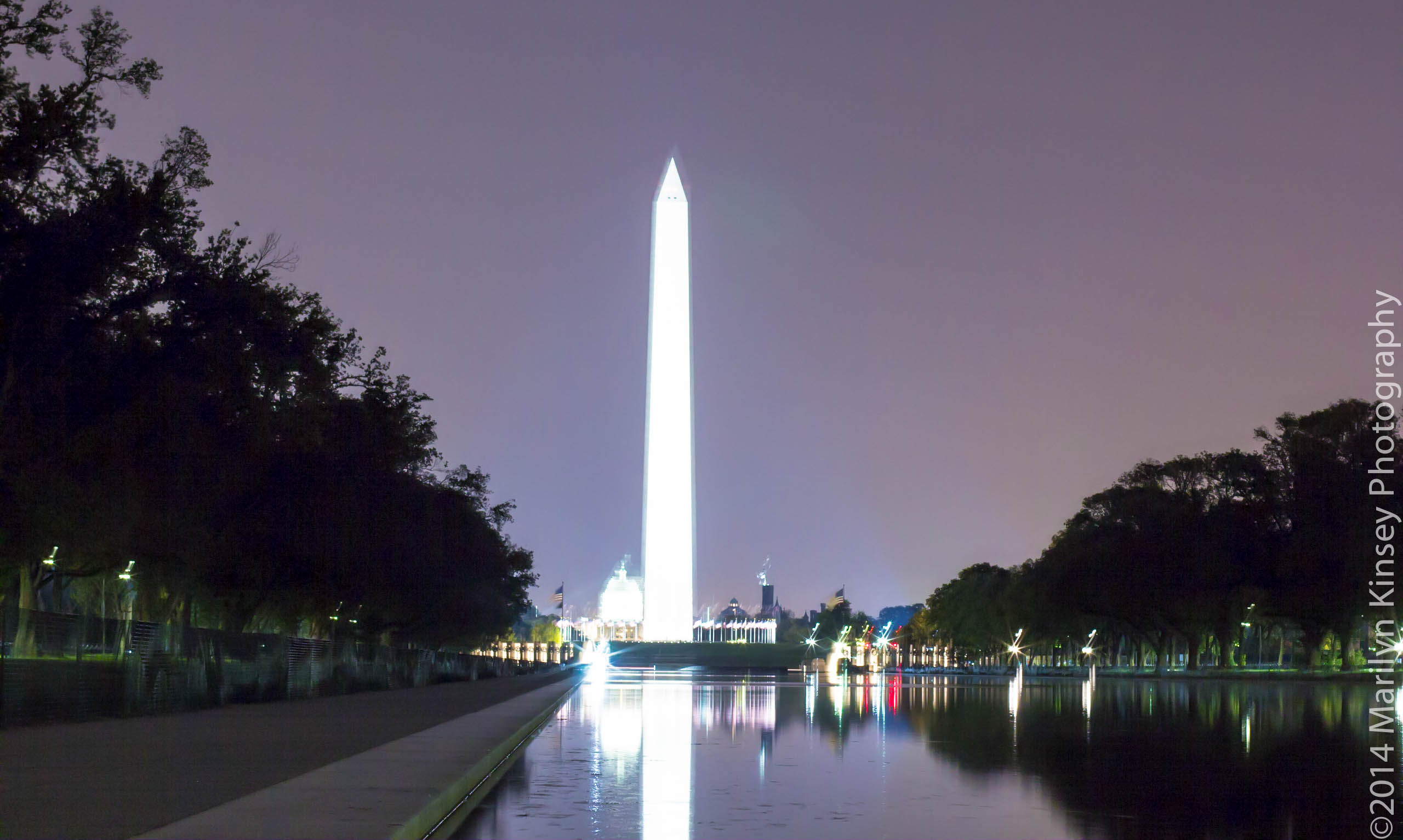 Night shoot at the u s institute of peace lincoln - Reflecting pool ...