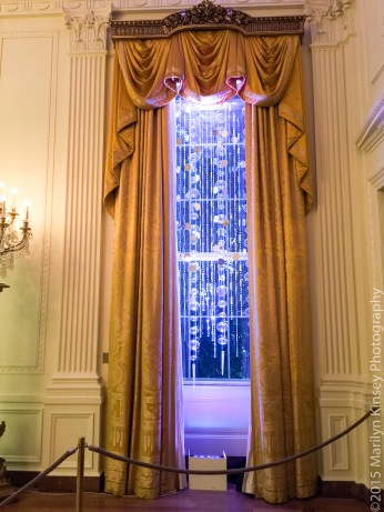 East Room window of icicles
