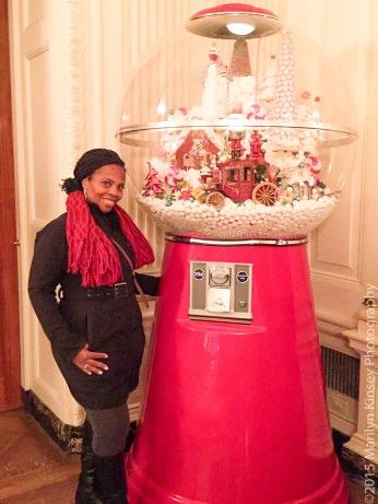 Me, at the giant gum ball machine