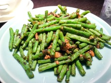 French Beans with Minced Pork and Preserved Olive Leaf